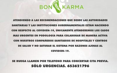 Centre Bon Karma abrirá para urgencias podológicas