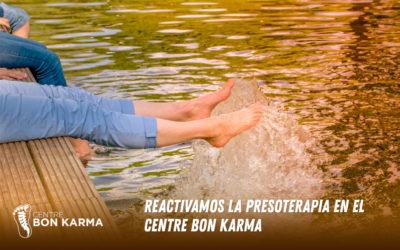 Reactivamos la Presoterapia en Centre Bon Karma